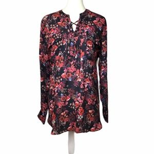 a.n.a. Floral Long Sleeve Top NWT